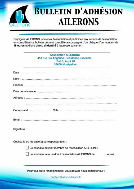 Bulletin d'adhésion 2014